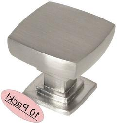 10 Pack - Cosmas 5232SN Satin Nickel Contemporary Square Cab