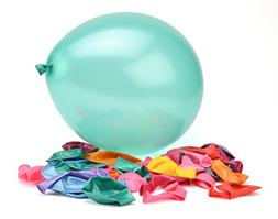 100 Premium Quality Balloons: 12 Inch Assorted Color Helium