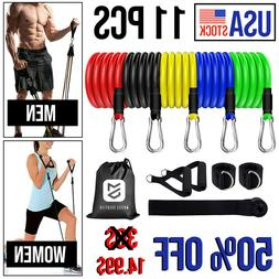 11Pcs Resistance Bands Home Workout Exercise Crossfit Fitnes