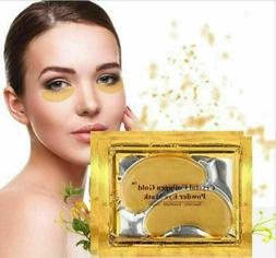 20 pairs Crystal Gold Collagen under Eye Pads Mask Anti Dark