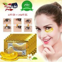 20 Pairs Under Eye Mask Gold Collagen Eye Patch Anti Wrinkle
