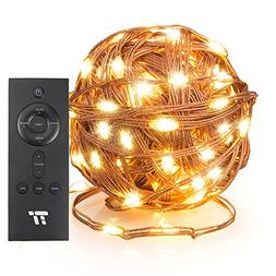 TaoTronics 66ft 200 LED String Lights with RF Remote Control