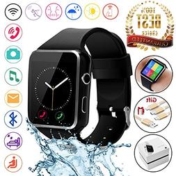 2018 Newest Bluetooth Smart Watch Touchscreen with Camera,Un