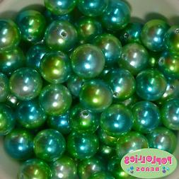 20mm Under the Sea Multi Ocrylic Faux Pearl Bubblegum Beads