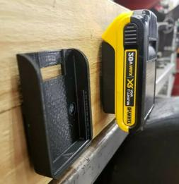**2 Pack** Dewalt/Mac Tools 20V Wall/Under Shelf Locking Bat