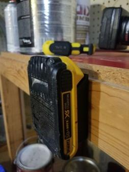 3d Printed Dewalt 20vBattery Holder/Under Shelf Mount