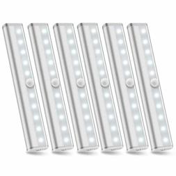 6 Pack 10 LED Motion Sensor Closet Light Stick-on Wireless B