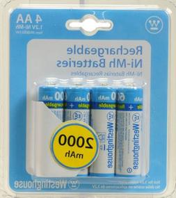 Westinghouse AA NI-MH 2000MAH Rechargeable Batteries