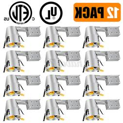 6/12Pack 4'' Inch Remodel LED Recessed Can Lighting IC Rated