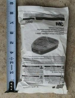 3M 6001PB1-1 Organic Vapor Replacement Cartridge, 1-Pair