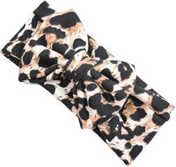 Ababalaya Baby Girls Soft Knitted Cotton Cute Leopard Large