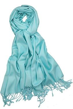 Achillea Soft Silky Solid Pashmina Shawl Wrap Scarf for Wedd