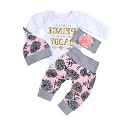 Clearance!!Toddler 4PCS Outfit Set Newborn Baby Girls Letter