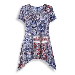 Collections Etc Women's Americana Paisley Patchwork Print Sh