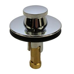 DANCO Lift and Turn Tub and Bath Drain Stopper, Chrome