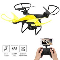 Dwi Dowellin WiFi FPV Drone with 720P HD Camera Lens 23mins