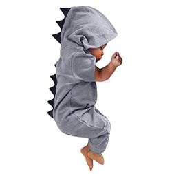 Hatoys Newborn Infant Baby Boy Girl Clothes Dinosaur Hooded