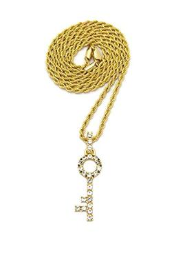 """Hip Hop Iced Out Micro Master Key Pendant 24"""" Various Chain"""