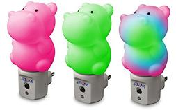 MOBI WallMate Color-Changing LED Night Light with Auto On/Of