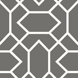 RoomMates RMK9069WP Peel and Stick Wallpaper, dark grey