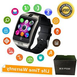 SEPVER Smart Watch with Camera Touch Screen Unlocked Watch C