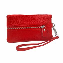 Uptsky Womens Leather Coin Purse Key Holder Multifunction Ha