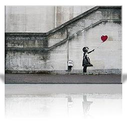 Wall26 - There is Always Hope Balloon Girl By Banksy Graffit