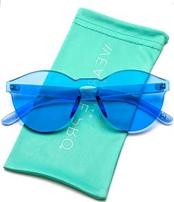 WearMe Pro - Colorful Transparent Round Super Retro Sunglass