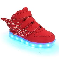 Wings Led Light Up Shoes 11 Colors Flashing Rechargeable Sne