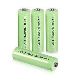 uxcell 4 Pcs 1.2V 700mAh AA Ni-MH Battery Rechargeable Batte