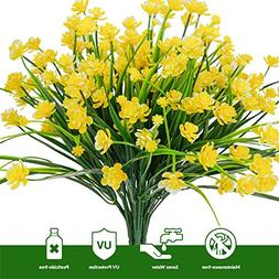 E-HAND Artificial Flowers Fake Cemetery Yellow Daffodils Out