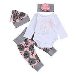 Hot Sale!!Baby Girl Letter Romper Clothes Set,4PCs 0-24M New