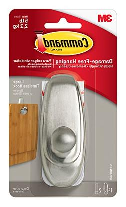 brushed nickel command timeless hook