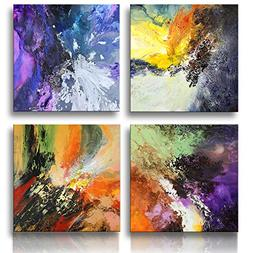 Sunrise Art-Canvas Prints Original Colorful Abstract Paintin