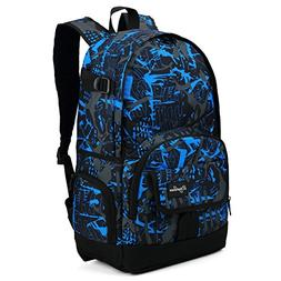Cool Backpack for Teen Boys & Girls, Ricky-H Blue/Black Men