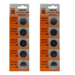 GTMax 10X 	CR2032 Lithium Button Cell Battery
