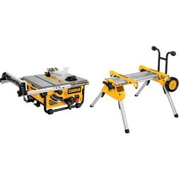 DEWALT DW7440RS Rolling Saw Stand with DW745 10-Inch Compact