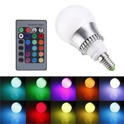 E14 Led Bulbs - Rgb E14 5w Led Bulb Color-Changing Globe Lig