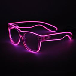 Generic EL Wire Rave Sunglasses LED Light Up Party Glasses