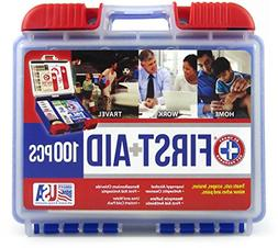 Be Smart Get Prepared 100 Piece First Aid Kit, Clean, Treat