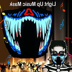flashingworld Music Led Party Mask with Sound Active for Dan
