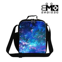 GIVE ME BAG Generic Galaxy Printed Lunch Bags for Kids Insul
