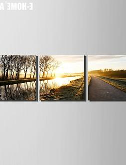 Generic- Stretched Canvas Art The Little River View Under Th