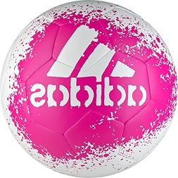 adidas Performance X Glider II Soccer Ball, White/Shock Pink