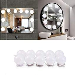 Minger Hollywood Style Vanity Mirror Lights, 8 Dimmable LED