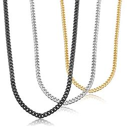 Jstyle Stainless Steel Link Curb Chain Necklace for Men Wome