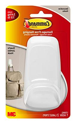 Command Jumbo Hook, Quartz , 1-Hook