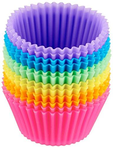 12 Pck Silicone Cupcake Liner Mini Baking Cups Muffin Baking