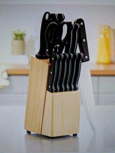 14 piece knife set with high carbon