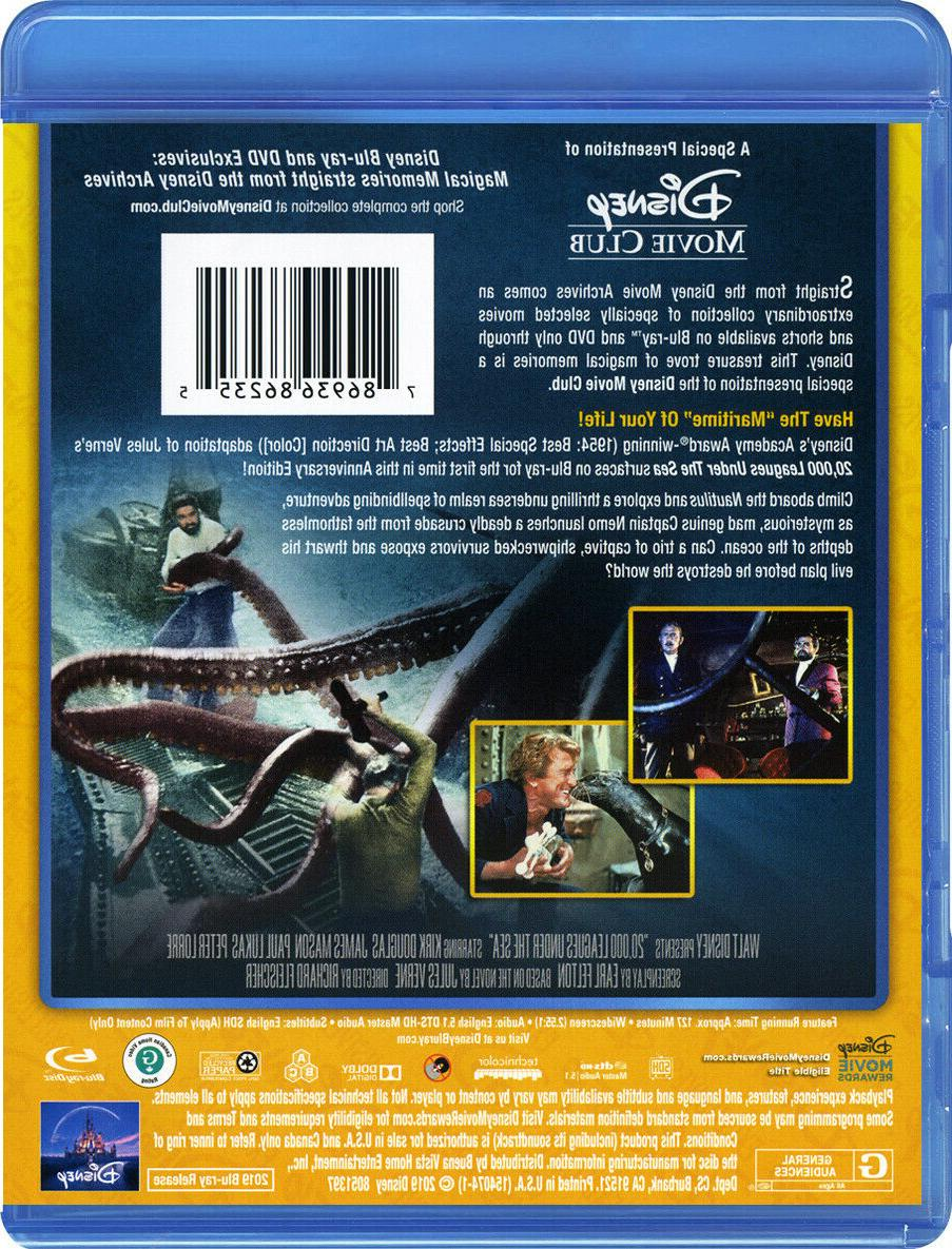 20,000 Leagues Under the Sea Disney Blu-Ray FREE SHIPPING Copy!!!!